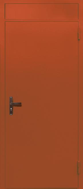 Одностворчатая глухая техническая дверь с фрамугой (RAL 2000)