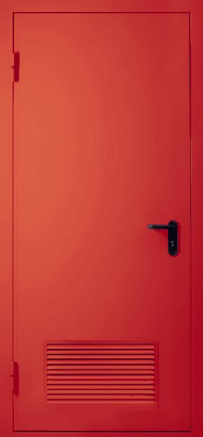 Однопольная противопожарная дверь с вентиляцией EI 30 (RAL 3020)