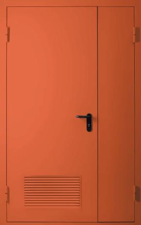 Полуторапольная противопожарная дверь с вентиляцией EI 30 (RAL 3022)