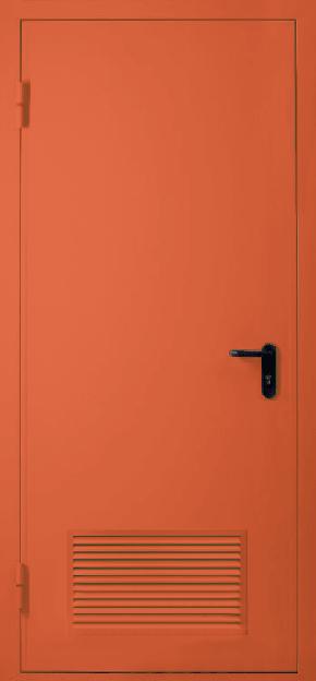 Однопольная противопожарная дверь с вентиляцией EI 30 (RAL 3022)