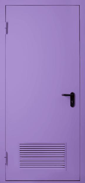Однопольная противопожарная дверь с вентиляцией EI 30 (RAL 4001)