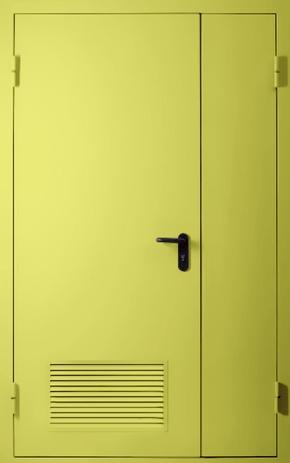 Полуторапольная противопожарная дверь с вентиляцией EI 60 (RAL 1016)
