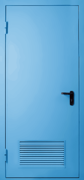 Однопольная противопожарная дверь с вентиляцией EI 60 (RAL 5012)