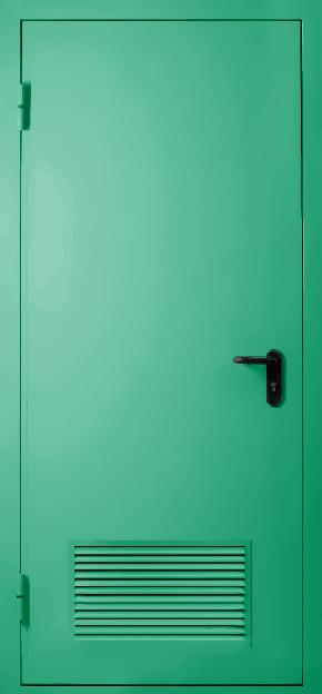 Однопольная противопожарная дверь с вентиляцией EI 60 (RAL 6024)