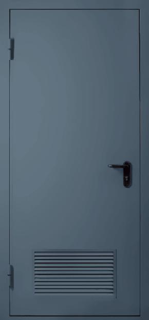 Однопольная противопожарная дверь с вентиляцией EI 60 (RAL 7043)