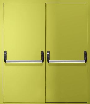 Двупольная противопожарная дверь «Антипаника» EI 30 (RAL 1016)