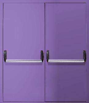 Двупольная противопожарная дверь «Антипаника» EI 30 (RAL 4005)