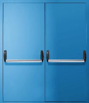 Двупольная противопожарная дверь «Антипаника» EI 30 (RAL 5012)