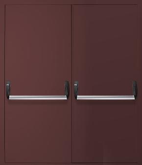Двупольная противопожарная дверь «Антипаника» (RAL 8017)