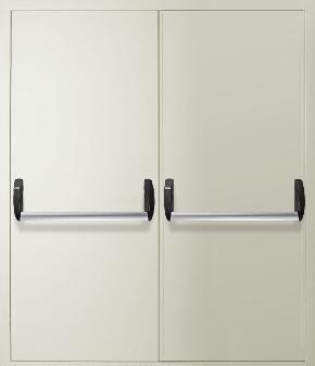 Двупольная противопожарная дверь «Антипаника» (RAL 9016)