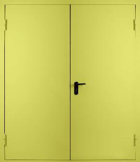 Двупольная глухая противопожарная дверь EI 30 (RAL 1016)