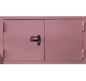 Двустворчатый противопожарный люк (RAL 3015)