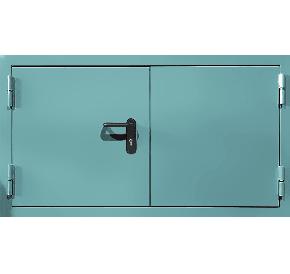 Двустворчатый противопожарный люк (RAL 6027)