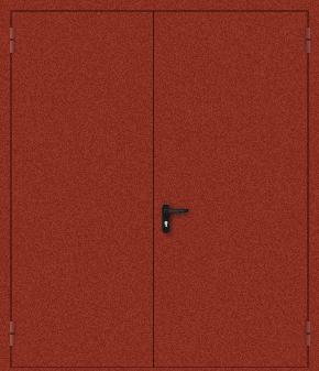 Двупольная противопожарная дверь с порошковым напылением (красная)