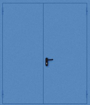 Двупольная противопожарная дверь EI 30 (порошок / синяя)