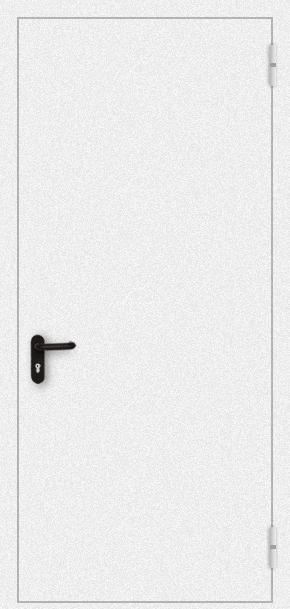 Однопольная противопожарная дверь с порошковым напылением (белая)