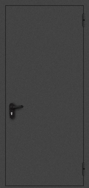 Однопольная противопожарная дверь EI 30 (порошок / черная)