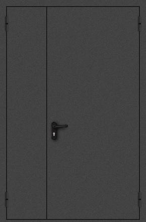 Полуторапольная противопожарная дверь EI 30 (порошок / черная)