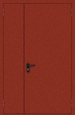 Полуторапольная противопожарная дверь с порошковым напылением (красная)