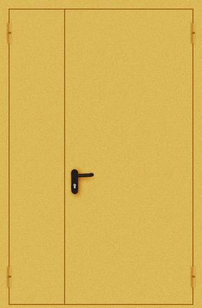 Полуторапольная противопожарная дверь EI 30 (порошок / желтая)