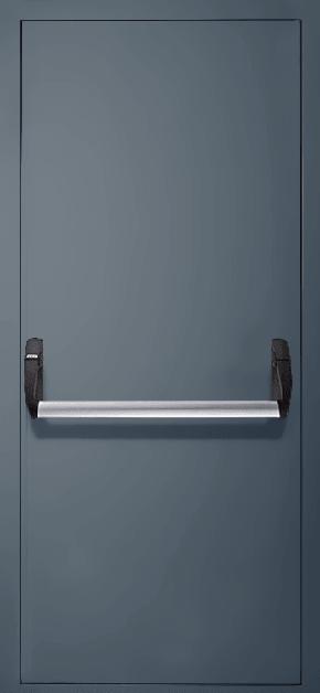 Однопольная противопожарная дверь «Антипаника» EI 60 (RAL 7043)