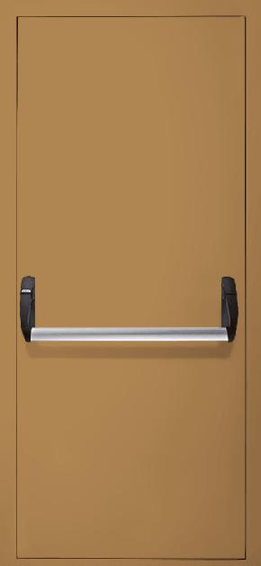 Однопольная противопожарная дверь «Антипаника» EI 60 (RAL 8000)