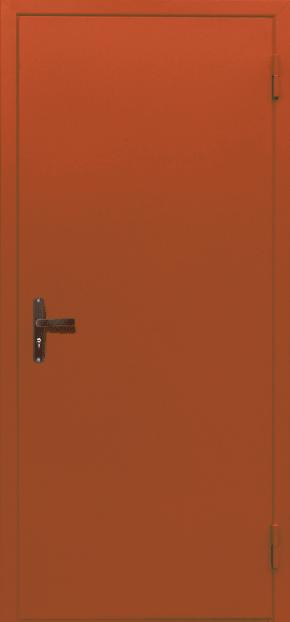 Глухая одностворчатая техническая дверь (RAL 2000)