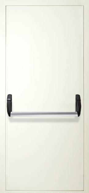 Однопольная противопожарная дверь «Антипаника» (RAL 9016)