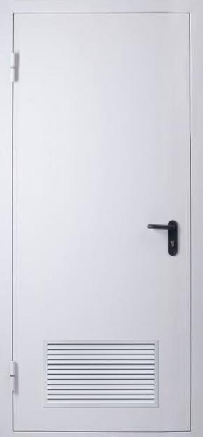 Однопольная дверь с вентиляцией EI 60 (RAL 7035)