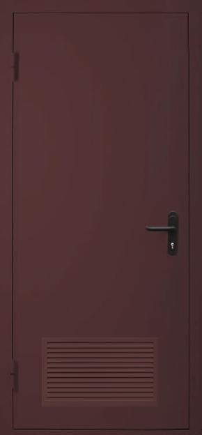 Однопольная дверь с вентиляцией EI 60 (RAL 8017)