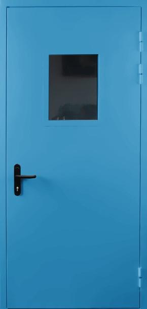 Однопольная противопожарная дверь со стеклом EI 60 (RAL 5012)