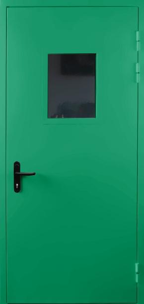 Однопольная противопожарная дверь со стеклом EI 60 (RAL 6024)