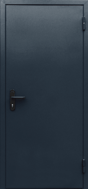 Однопольная глухая противопожарная дверь EI 60 (RAL 7043)