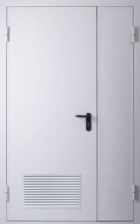 Полуторапольная дверь с вентиляцией (RAL 7035)