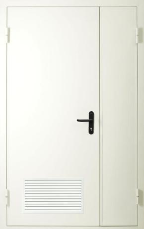 Полуторапольная дверь с вентиляцией EI 60 (RAL 9016)