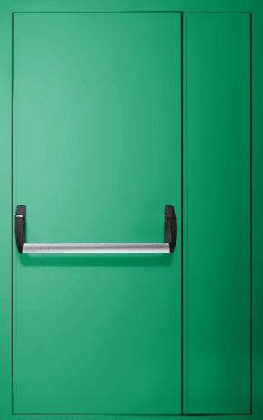 Полуторапольная противопожарная дверь «Антипаника» EI 60 (RAL 6024)