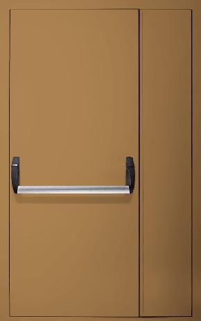Полуторапольная противопожарная дверь «Антипаника» EI 60 (RAL 8000)