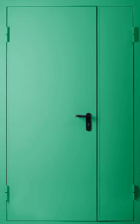 Полуторапольная глухая противопожарная дверь EI 60 (RAL 6024)