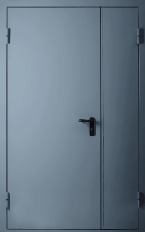 Полуторапольная глухая противопожарная дверь EI 60 (RAL 7043)