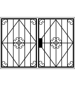 Распашная решетка на окно OS-013