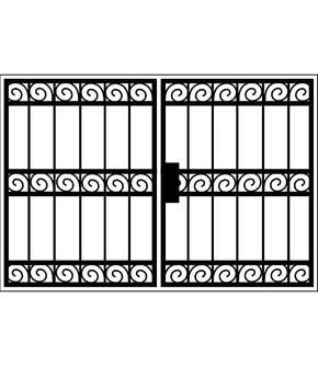 Распашная решетка на окно OS-017