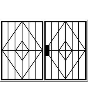 Распашная решетка на окно OS-003