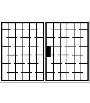 Распашная решетка на окно OS-004