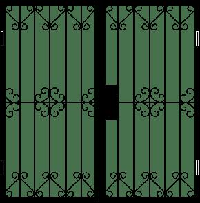 Двупольная решетчатая дверь DRD-011