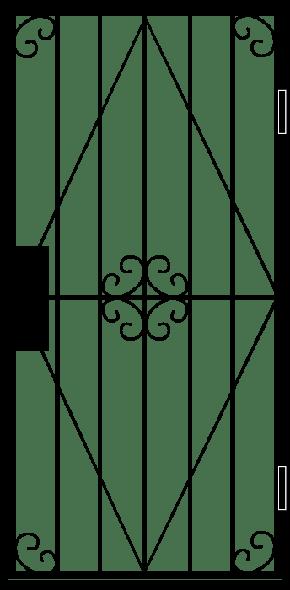 Однопольная решетчатая дверь RD-013