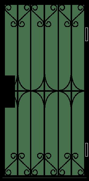 Однопольная решетчатая дверь RD-014
