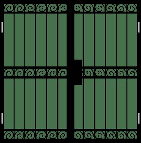 Двупольная решетчатая дверь DRD-017