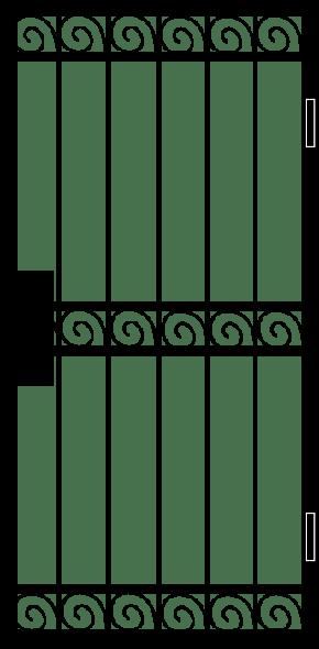 Однопольная решетчатая дверь RD-017