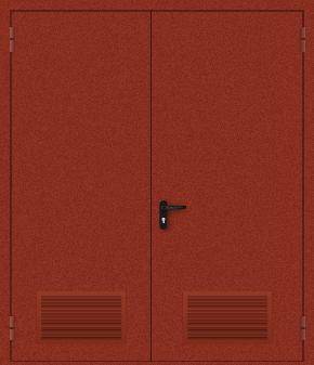 Двупольная дверь с вентиляцией (порошок / красная)