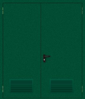 Двупольная дверь с вентиляцией (порошок / зеленая)